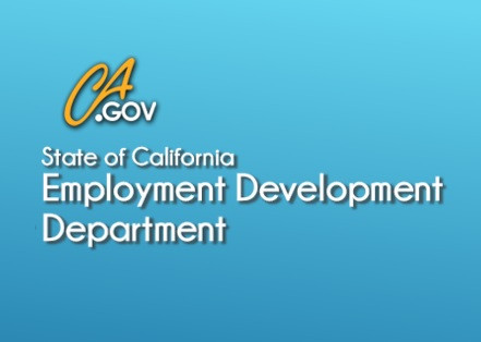 Logo of the State of California Employment Development Department CA.gov