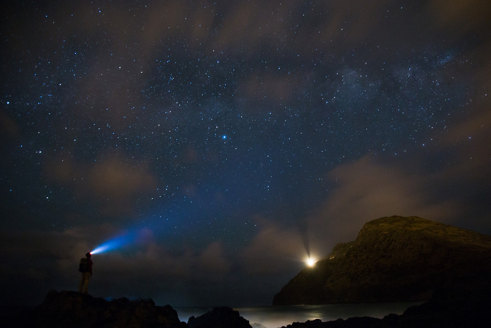 Starring at the Milky Way near the lighthouse in Hawaii in 2015.