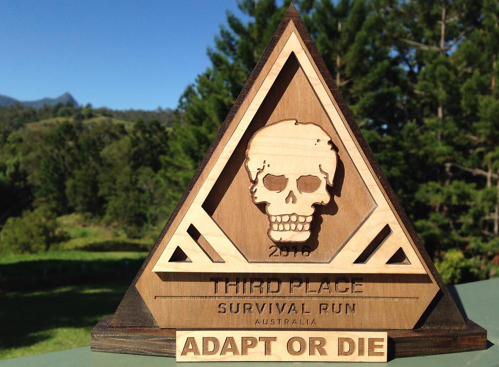 Third place award - Survival Run Australia 2016