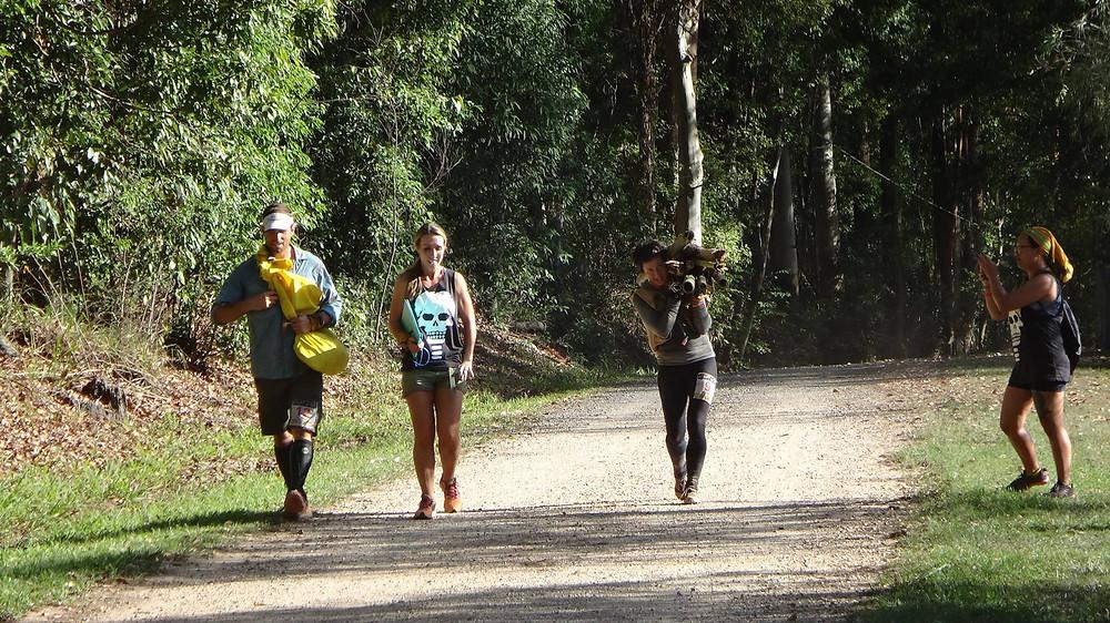 Crossing the finish line at Survival Run Australia 2016.