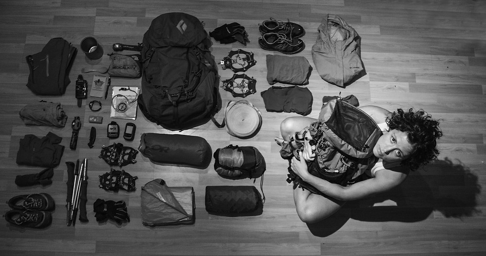 Packing for the third and last attempt of crossing the Ko'olaus in Hawaii in 2015.