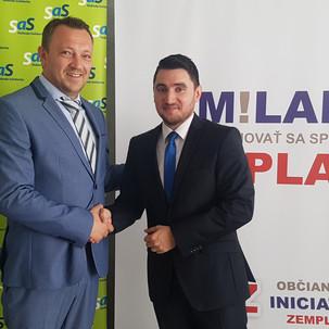 Ohlásenie kandidatúry Milana Kaplana