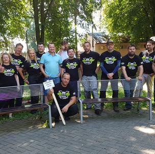 MotoSaS, oprava lavičiek v parku