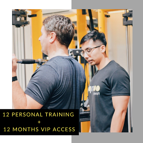 12 Personal Training + 12 Months VIP access