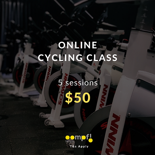ONLINE SPIN CLASSES - 5 sessions