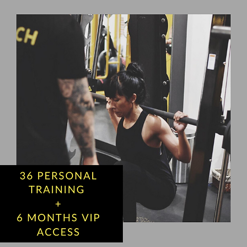 36 Personal Training + 6 Months VIP access