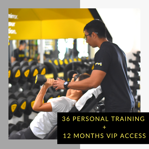 36 Personal Training + 12 Months VIP access