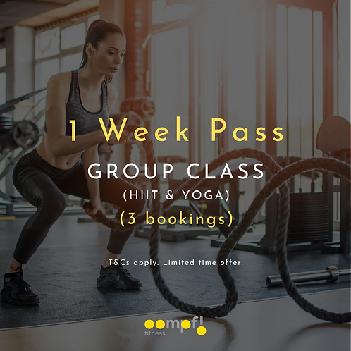 1 week pass - HIIT, strength and yoga