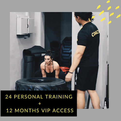 24 Personal Training + 12 Months VIP access