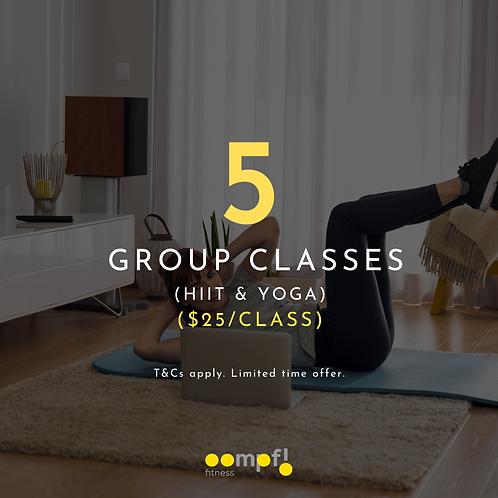 5 Group Class - HIIT & YOGA