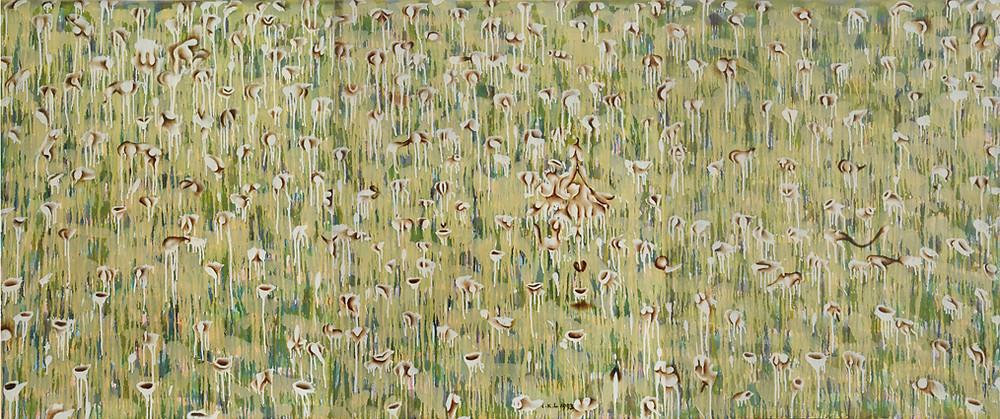 憂媺的風與景(三 )Graceful Scenery III 1993 布上油彩 Oil on canvas 90.5X232.5cm
