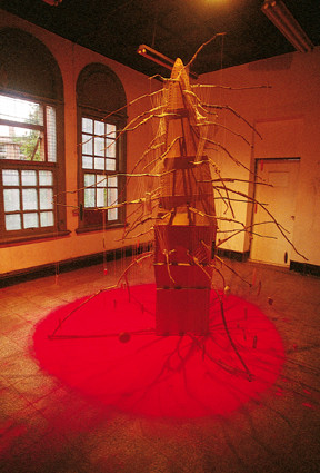 日夜不停垂釣的木匠  綜合媒材  2003