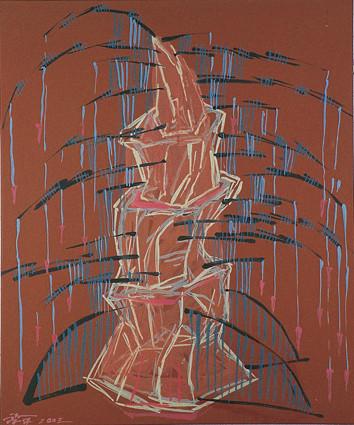 垂釣的木匠  72.5X60.5cm  壓克力彩、畫布  2003