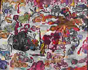 墓場婚姻 Marriage in Cemetery 1992 布上油彩 Oil on canvas 130.5X163.5cm