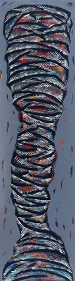 肖象 145X40cm  壓克力、畫布  2001