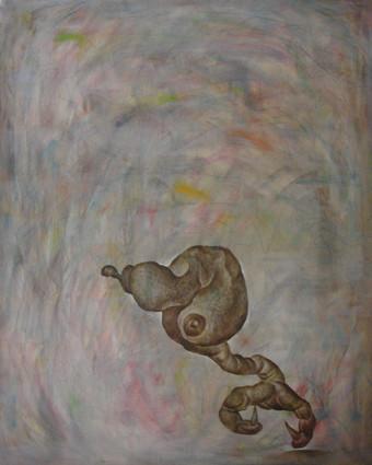孤獨 V Loneliness V   1991 布上油彩 Oil on canvas 91X72.5cmX4