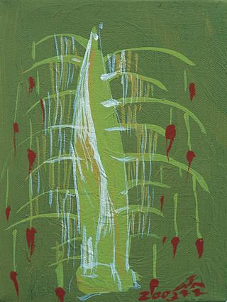 垂釣的木匠  19.5X14.7cm  壓克力彩、畫布  2003