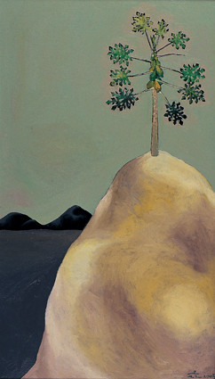 孤丘(二)Solitary Hill II 2008 布上油彩 Oil on canvas 107X60.5cm