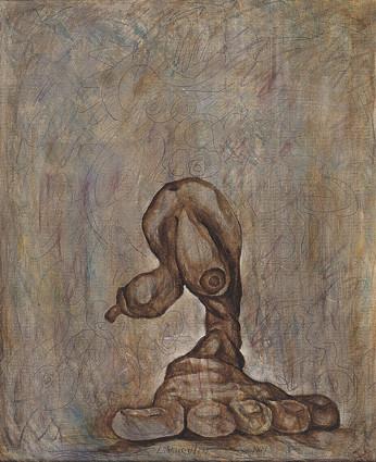 孤獨 Ι Loneliness I  1991 布上油彩 Oil on canvas 65X53cm
