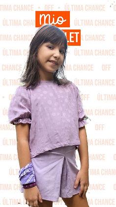 Short Nathalie linho lilas