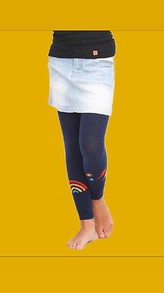 Meia Calça tipo legging marinho Arco-íris - sem pé