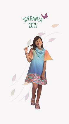Vestido Fefê arco iris