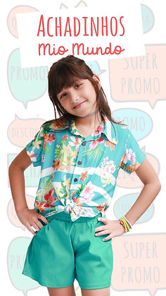 Camisa Poly Abacaxi