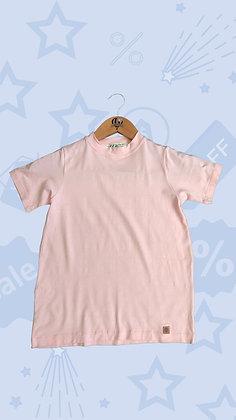 T-shirt rosa bebê em malha