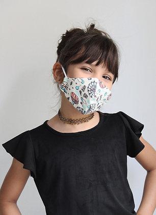 Máscara em malha estampa parque
