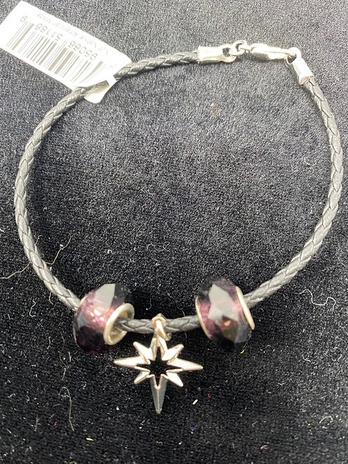 Bracelet/Corded star with beads