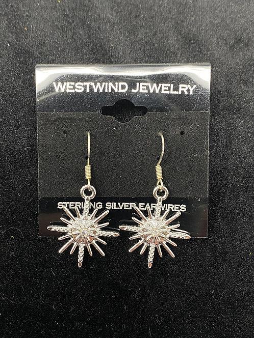 Sterling Silver Star Earrings by Westwind Jewelry
