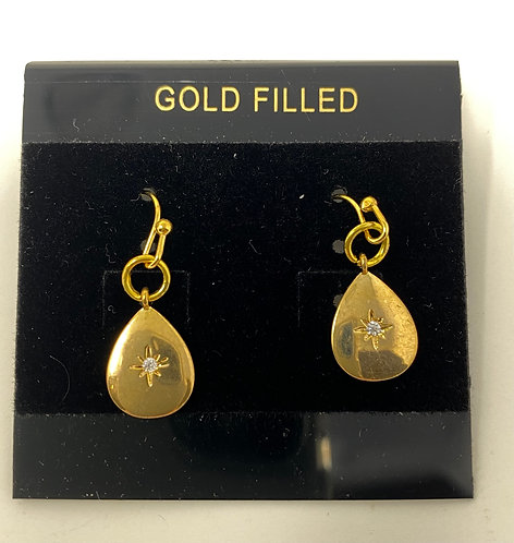 Gold Filled Star Earrings by Westwind Jewelry