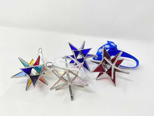 Moravian Star Glass Ornament