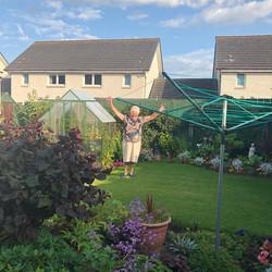 Rosemary showed us her garden. V for
