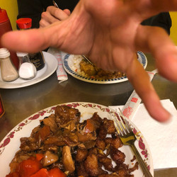 Chicken that looks like a hand and a