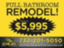 Full bathroom remodel starting at $5,995