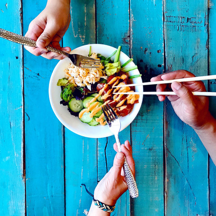 Ohope Local Wild Food Challenge bowl with chopsticks