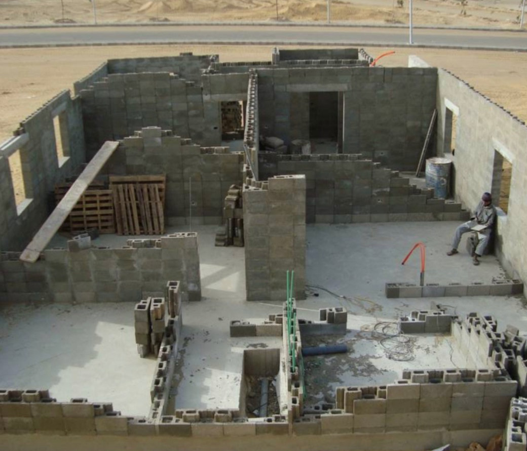 Villa under construction with SmartBlock technology - Egypt