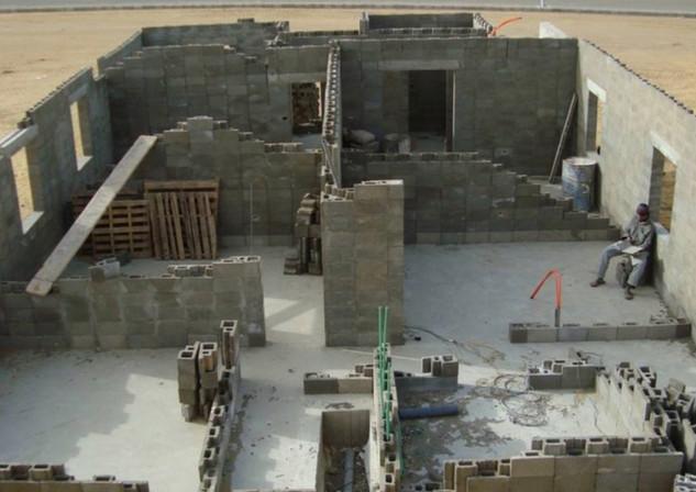 Villa under construction with SmartBlock technology - Egypt
