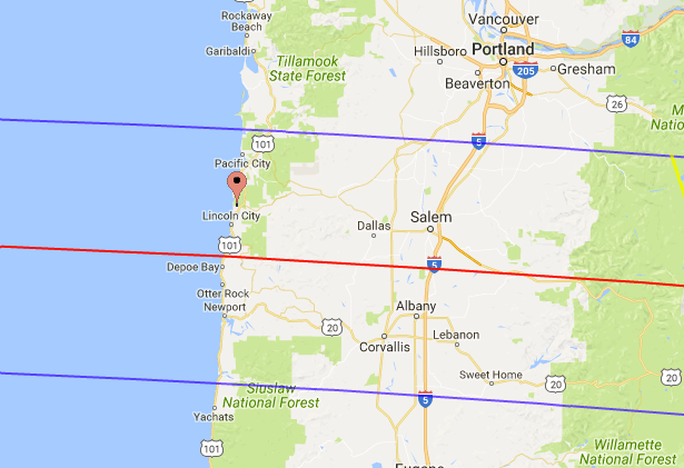 Total Solar Eclipse On the Oregon Coast