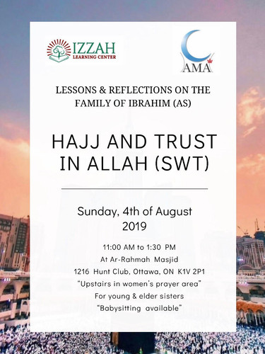 HAJJ AND TRUST IN ALLAH LECTURE