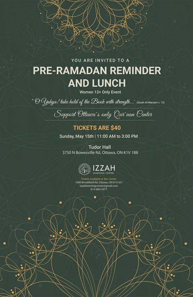 Pre-Ramadhan Reminder & Lunch