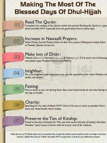 MAKING THE MOST OF THE BLESSED DAYS OF DHUL-HIJJAH