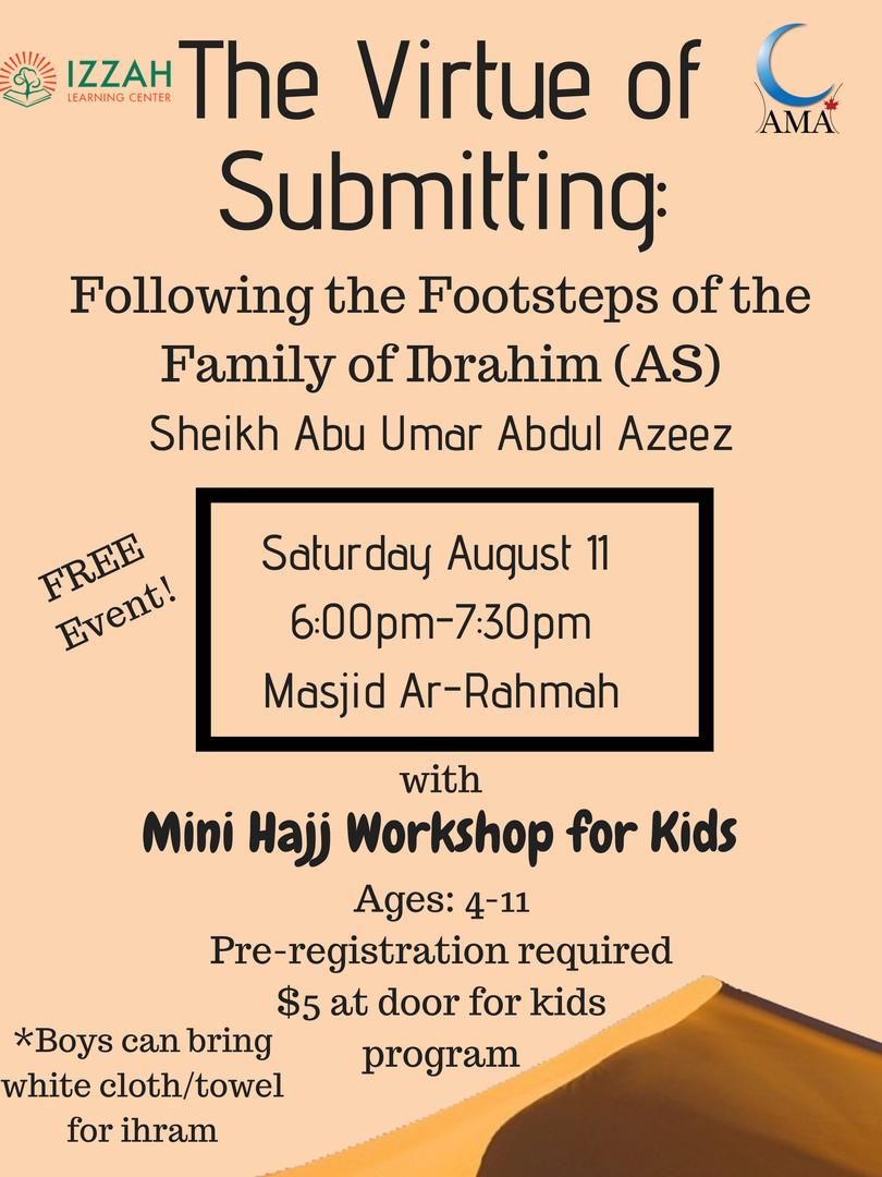 Mini Hajj Workshop for Kids