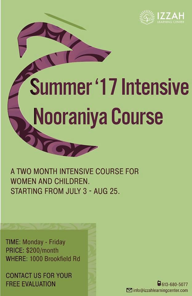 Intensive Summer Nooraniyyah (2016 to 2018)