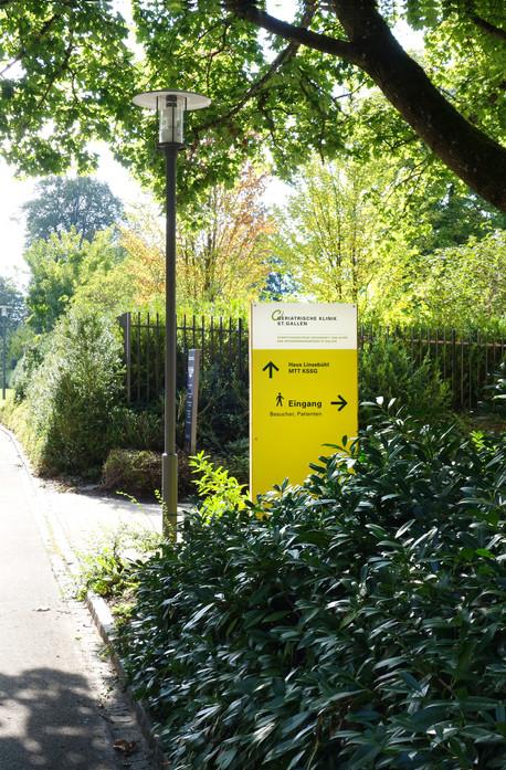 Geriatrische Klinik St.Gallen, temporäre Signaletik