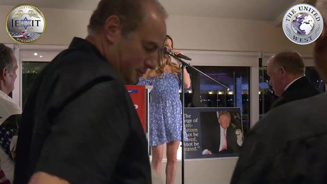 """Hadas Levy AKA """"The Voice of JEXIT"""", performing the National Anthem for AFPC"""