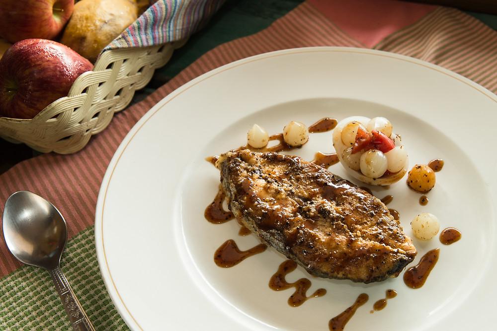 Fish Steak with Black Pepper