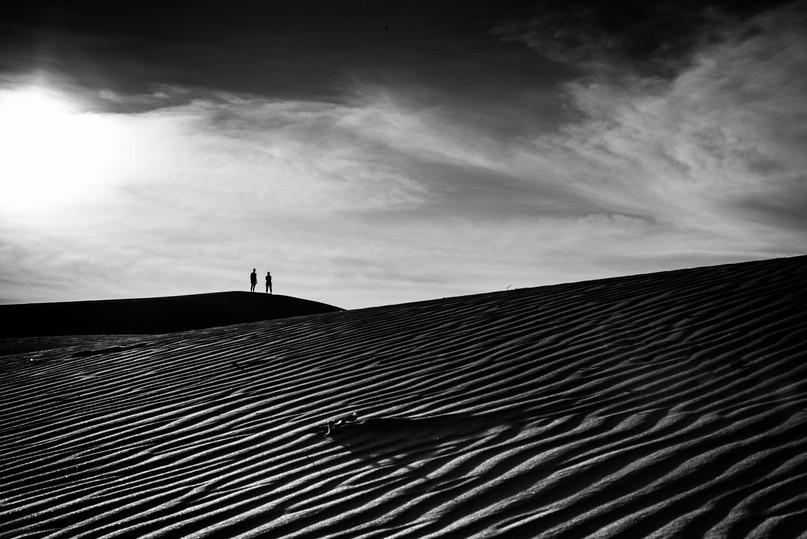 Landscape,Red Sand Dunes,Mui ne,Vietnam.