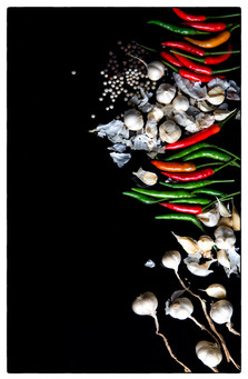 photography vegetables Garlic.